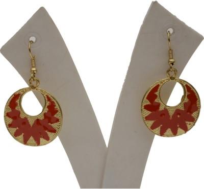 Galz4ever Style Bronze Alloy Printe Metal Dangle Earring