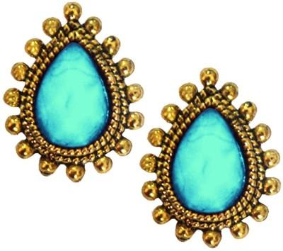Beingwomen Tear Drop shape stone studded Alloy Stud Earring
