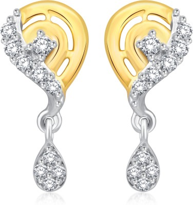 Classic Beauty Gold And Rhodium Plated Earrings for Women [CJ1019ERG] Cubic Zirconia Alloy Drop Earring