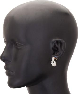 Rashi Jewellery Blue Peacock Cubic Zirconia Alloy Stud Earring