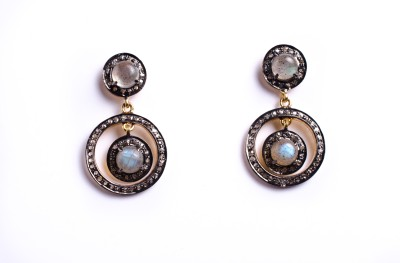 My DT Lifestyle Victorian Style EARING Labradorite Yellow Gold Drop Earring