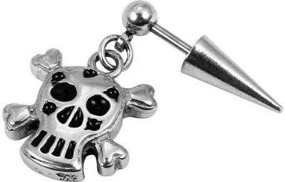 Little Goa Silver Skull Metal Body Piercing-20 mm Metal Tunnel Earring