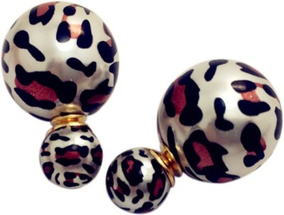 Amour New Double Sided Leopard Print Alloy Stud Earring