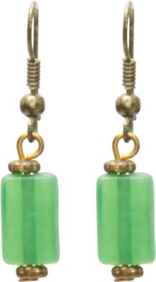 Galz4ever Green Single Alloy Drop Earring