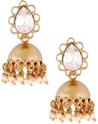 the jewelbox CZ Antique Cubic Zirconia Copper Jhumki Earring