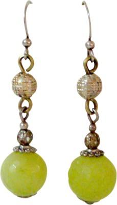 Store Utsav Spring Green Cheer Jade Silver Dangle Earring