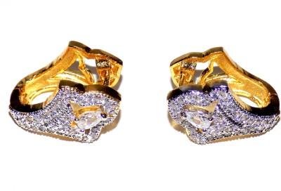 Jewels Kafe American Diamond Alloy Clip-on Earring