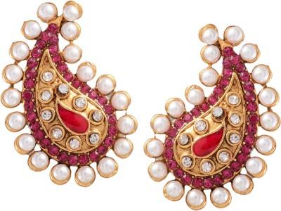 Ark Traditional India Cubic Zirconia Alloy Chandbali Earring