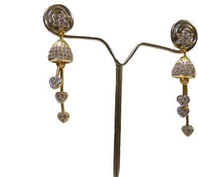 Aakhya EAR7 Diamond Rose Gold Drop Earring