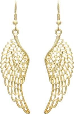 Galz4ever Gold Wing Alloy Drop Earring