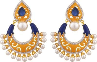 Tuan Trendy Dangle Diamond, Cubic Zirconia Alloy Drop Earring at flipkart