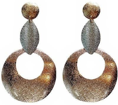 Blingxing Round Copper Metal, Alloy Drop Earring