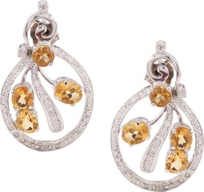 RR FOREVER Gemstone Citrine Silver Stud Earring