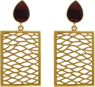 Ishaani Love Forever Cubic Zirconia Alloy Drop Earring