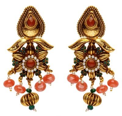 Rays Brass, Copper Chandelier Earring