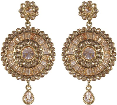 Muchmore Traditional Earring For Women And Girls For Party And Wedding Occasion Crystal Alloy Earring Set