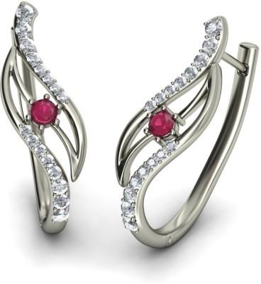 Joyra Admirable Swarovski Zirconia Sterling Silver Hoop Earring