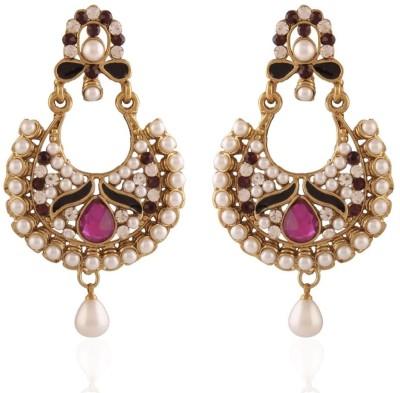 I Jewels Traditional Zinc Chandbali Earring
