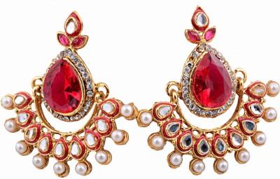 Vedhagloballlp Spring Sparkle Alloy Chandbali Earring
