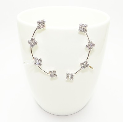 Sansar India Crystal Zircon Metal Cuff Earring