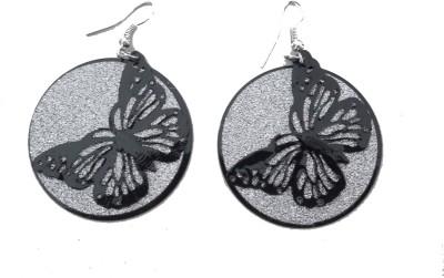 MH Butterfly Crystal Plastic Jhumki Earring