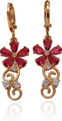 Yellow Chimes Floret Rose Metal Drop Earring