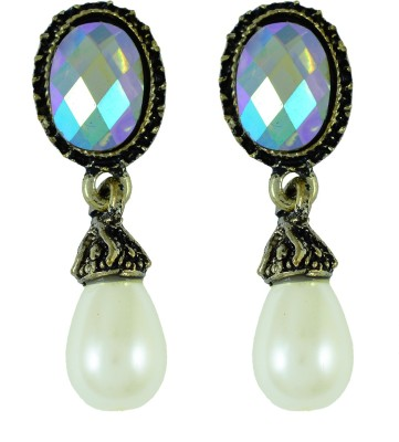 Suvini Charming Design With White Pearl Alloy Drop Earring