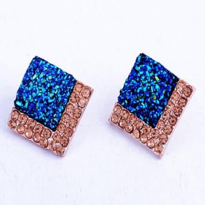 Stile Rhinestone Square Crystal Stud Earring