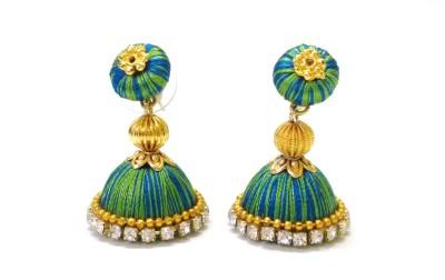 Ovis Creations 2 SHADED JUMKKA Silk Dori Jhumki Earring