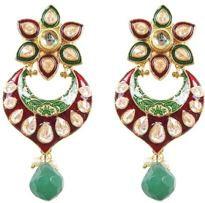 Rajwada Arts Ramleela Inspired Fancy Chaandbali Brass Drop Earring