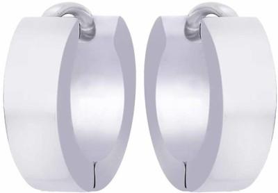VelvetCase Glam Silvers for Women Silver Hoop Earring