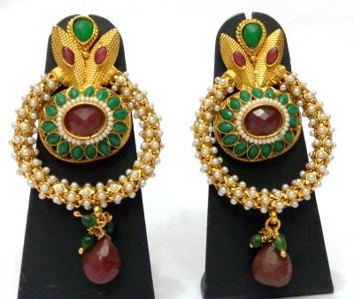 Womaniya Polki Delight Alloy Chandbali Earring