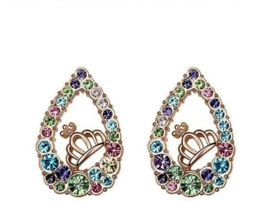 Roma Brothers Crown Multi Cubic Zirconia Alloy Stud Earring
