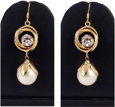 Hotpiper Elegant Pearl Pearl, Crystal Alloy Dangle Earring