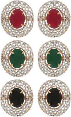 Naitik Glossy Charm Alloy Earring Set