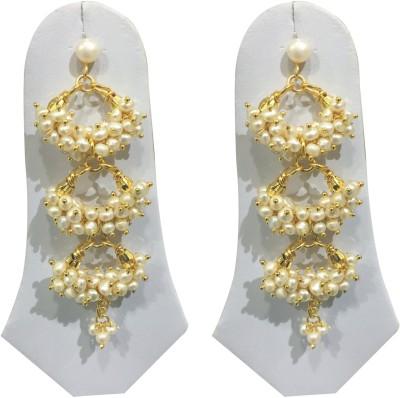 Sri Kapi Pearls FE143 Pearl Alloy Dangle Earring