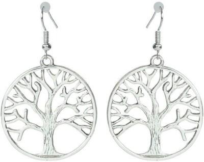 ToniQ Silver Tree Metal Dangle Earring