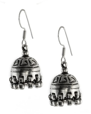 Silvery JkEr-19 Silver Jhumki Earring