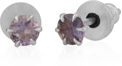 Gemshop COMPELLING PAIR OF EMBELLISHED WITH STONE Alloy Stud Earring