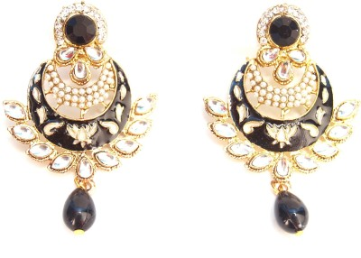 NM Products Golden Alloy Drop Earring