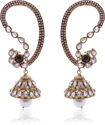 Fashion Frenzy Antique Crystal Alloy Jhumki Earring