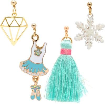 Super Drool Snow Flake Princess Alloy Earring Set