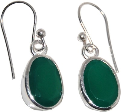 Arvino Pillow of Green Onyx Sterling Silver Dangle Earring