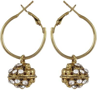 CTW Jaipuri Textured Oxidised Alloy Hoop Earring
