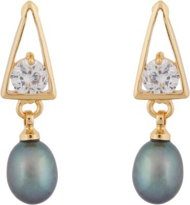 Janki Jewellers Stuyle Diva Pearl Alloy Drop Earring