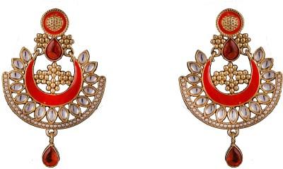 R18Jewels-Fashion&U Kundan Princess_Anushka Metal, Enamel Chandbali Earring