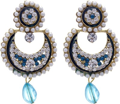 Silverkartz Princess Delight Cubic Zirconia Alloy Chandbali Earring