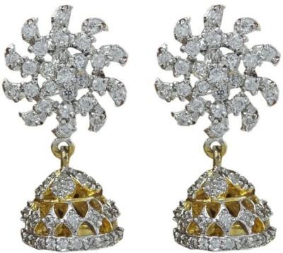 My Sara Sun Style Jhumki Cubic Zirconia Brass Jhumki Earring