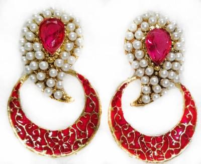 SB Fashions pink pearl earring Brass Earring Set