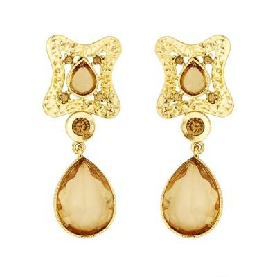 BeBold Drop Stone Fashion Brass Drop Earring